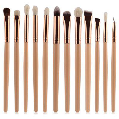12 Pcs Goat Hair Eye Makeup Brushes Set