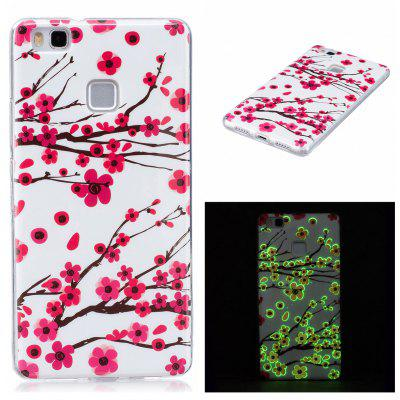 Soft TPU Plum Blossom Luminous Back Case para Huawei