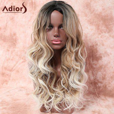 Buy COLORMIX Adiors Long Side Parting Layered Wavy Colormix Synthetic Wig for $18.28 in GearBest store