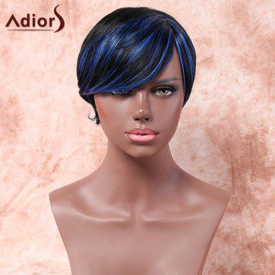 Buy COLORMIX Adiors Short Side Parting Highlight Silky Straight Bob Synthetic Wig for $12.91 in GearBest store