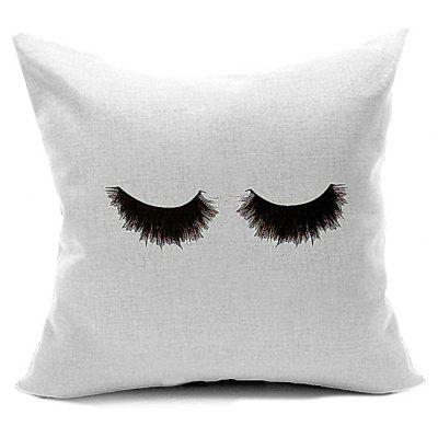 Eyelash Pattern Hand Painted Sofa Decorative Pillow Case $7 85