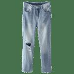 Luce Wash Destroyed Jeans - LUCE AZZURRO