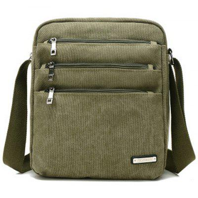 Buy Canvas Multi Zippers Crossbody Bag ARMY GREEN for $20.67 in GearBest store