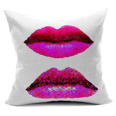 Buy WHITE Home Decor Lips Throw Pillow Case for $7.85 in GearBest store