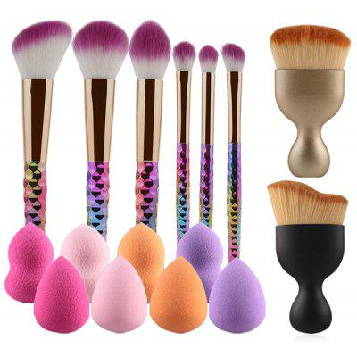 8 Pcs Makeup Brushes and Makeup Sponges