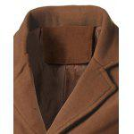 Notch Lapel Back Vent Woolen Coat deal