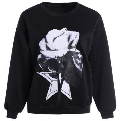 3D Print Flower Sweatshirt