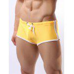 cheap Contrast Trim Drawstring Swimming Trunks