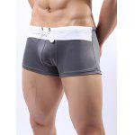 cheap Two Tone Drawstring Swimming Trunks