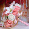 Artificial Rose and Lily Bridal Wedding Bouquets - PINK AND WHITE