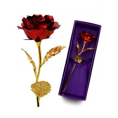 1PCS Gold Plated Rose Flower Birthday Gift