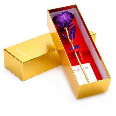 Gold Plated Rose Flower