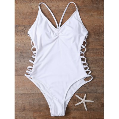 Cami High Cut Cutout One-Piece Swimwear
