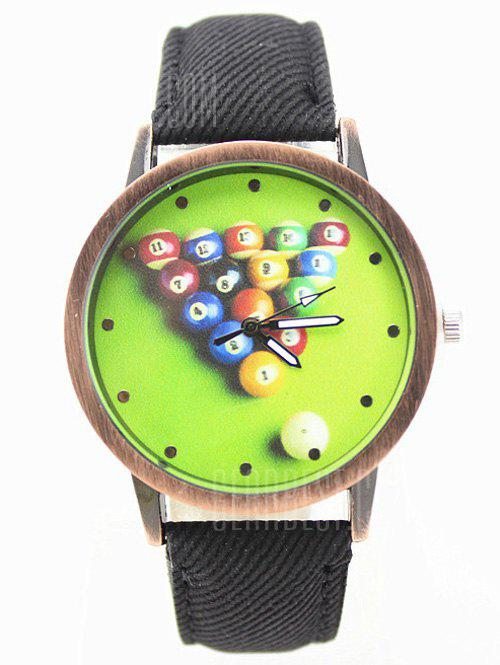 Table Tennis Printed Artificial Leather Watch