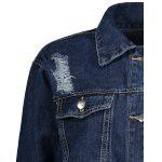 Distressed Button Up Denim Jacket deal