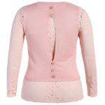 cheap Lace Panel Button Design Knitwear
