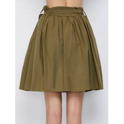 Belted Skirt Button With Up Pockets Mini gwAqHxOA5