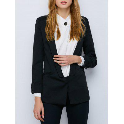 Collo a scialle risvolto One Button Blazer