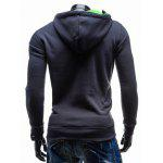 Side Zip Up Contrast Color Pullover Hoodie - GREEN
