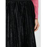 best Pleated Lace Insert Velvet Skirt