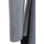 Chiffon Panel Handkerchief Tee - GRAY