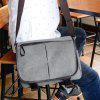 Canvas Messenger Sling Bag - GRAY