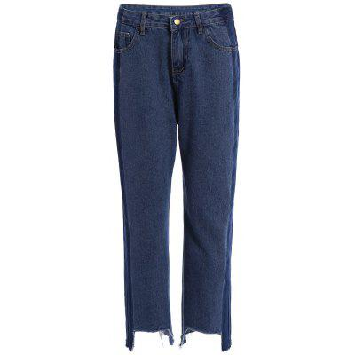 Two Tone Hem effilochée Wide Leg Jeans