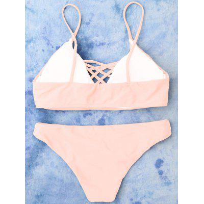 Lace Up Cami Bikini SwimwearWomens Swimwear<br>Lace Up Cami Bikini Swimwear<br><br>Bra Style: Padded<br>Elasticity: Elastic<br>Gender: For Women<br>Material: Nylon, Polyester, Spandex<br>Neckline: Spaghetti Straps<br>Package Contents: 1 x Top  1 x Bottoms<br>Pattern Type: Solid<br>Support Type: Wire Free<br>Swimwear Type: Bikini<br>Waist: Low Waisted<br>Weight: 0.2000kg