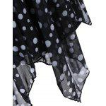 Polka Dot Plus Size Halter Tankini Swimsuits - BLACK