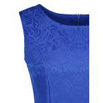 Sleeveless Jacquard A Line Mini Dress - SAPPHIRE BLUE
