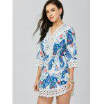 Lace Trim Paisley Mini Tunic Dress deal