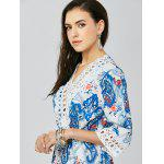 best Lace Trim Paisley Mini Tunic Dress