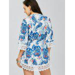 Lace Trim Paisley Mini Tunic Dress for sale
