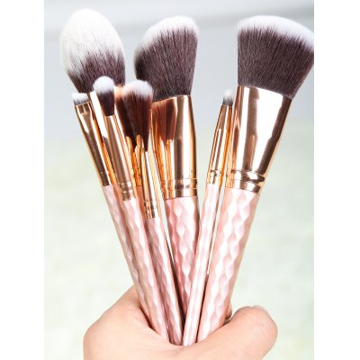 Buy ROSE GOLD 8 Pcs Rhombus Handle Makeup Brushes Set for $12.60 in GearBest store