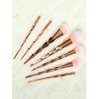 Buy ROSE GOLD 7 Pcs Rhombus Handle Makeup Brushes Set for $12.39 in GearBest store
