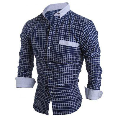 Long Sleeve Checked Button Down Casual ShirtMens Shirts<br>Long Sleeve Checked Button Down Casual Shirt<br><br>Collar: Turn-down Collar<br>Material: Cotton, Polyester<br>Package Contents: 1 x Shirt<br>Shirts Type: Casual Shirts<br>Sleeve Length: Full<br>Weight: 0.220kg