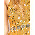 Tiny Floral Maxi Halter Dress - YELLOW OCHER
