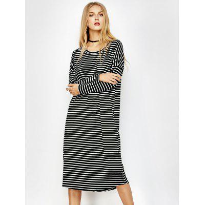Striped Long Sleeve Tee Dress