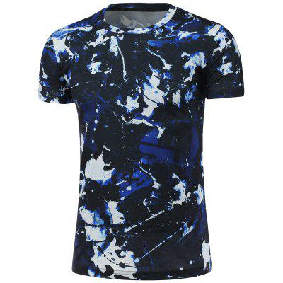 Crew Neck Short Sleeve Camouflage T-Shirt