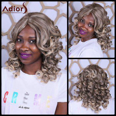 Buy COLORMIX Adiors Side Bang Long Big Wave Fluffy Heat Resistant Synthetic Wig for $16.50 in GearBest store