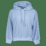 Drawstring Pullover Hoodie - LIGHT BLUE