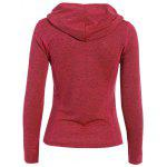 Sports Wear Drawstring Hoodie photo