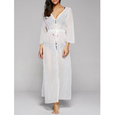 Long Sleeve Long Swimsuit Cover Ups Kimono