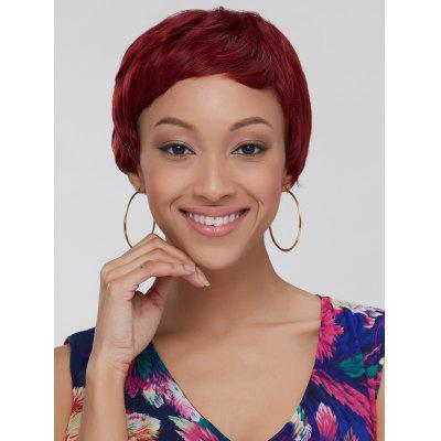 Wine Red Ombre Ultrashort Women's Synthetic Hair Wig