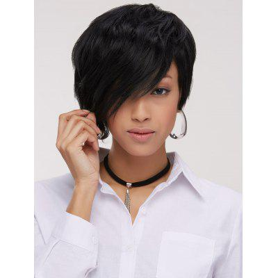 Handsome Short Pixie Cut Side Bang Straight Synthetic Wig
