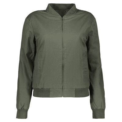 Fitting Thickening Bomber Jacket