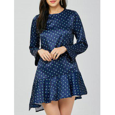 Buy BLUE Polka Dot Drop Waist Dress for $27.91 in GearBest store