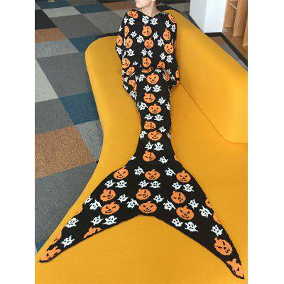 Comfortable Halloween Pumpkin Lantern Design Sofa Mermaid Blanket