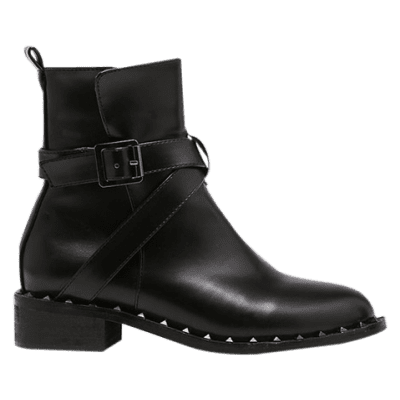 Punk Cross Strap PU Leather Rivet Boots