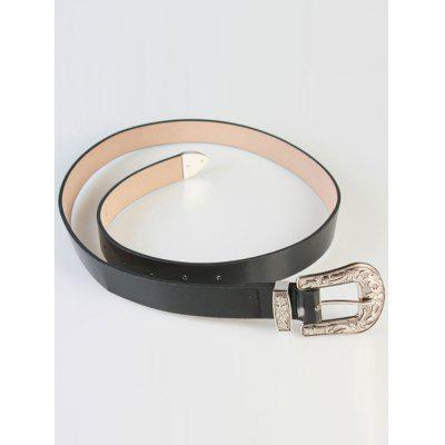 Stylish Embossed Pin Buckle Waistband For Women